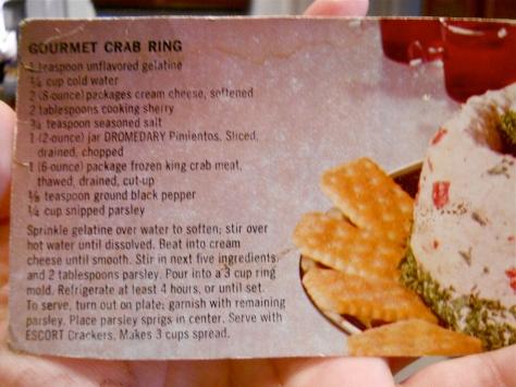 Gourmet Crab Ring recipe
