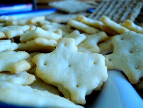Texas-shaped crackers