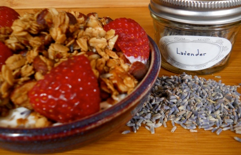 lavender and hazelnut granola